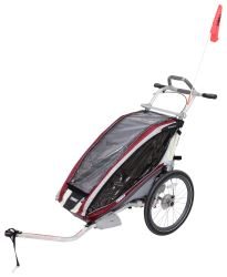 Thule CX Bike Trailer and Stroller - 1 Child - Burgundy/Red/Silver - 12 Months and Older