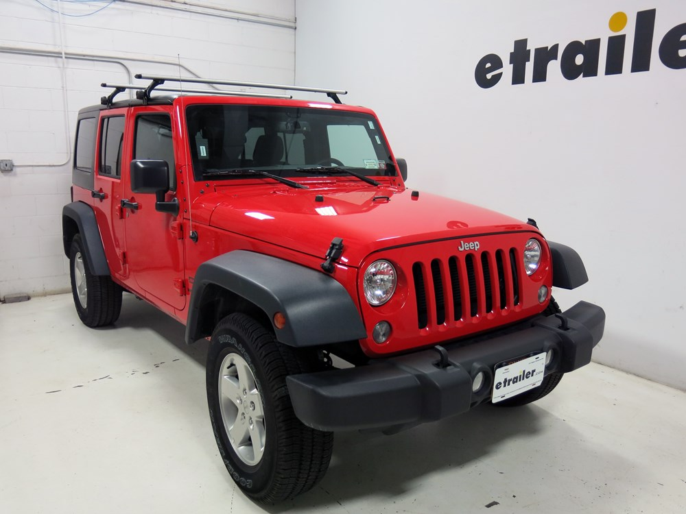Installation Of A Thule Aeroblade Traverse Roof Rack On A  Thule Roof Rack for Jeep Wrangler Unlimited, 2007 ...