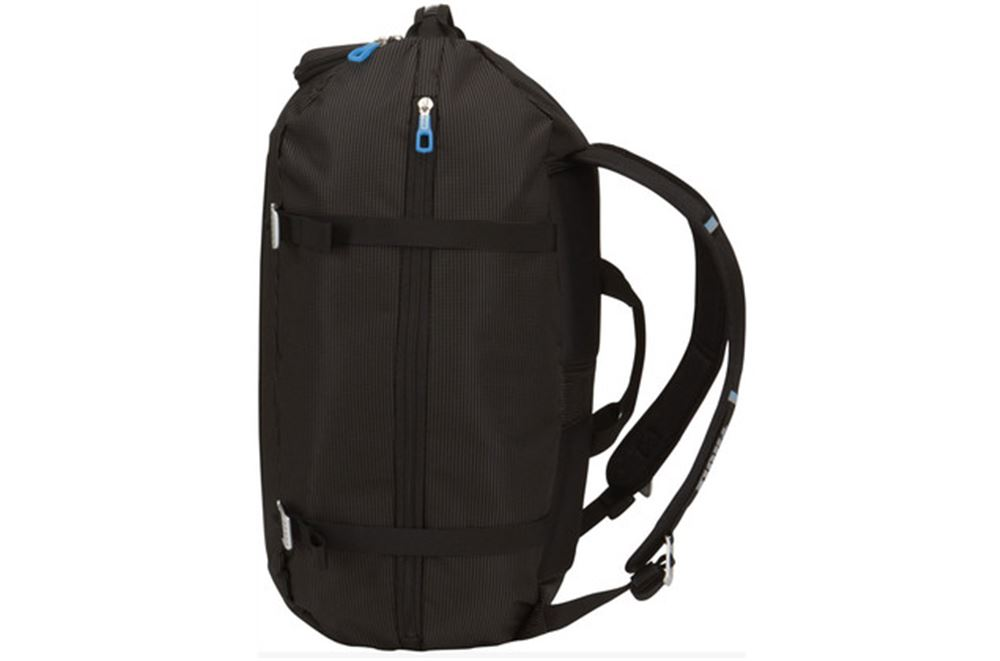 thule crossover duffel bag and backpack 40 liter black. Black Bedroom Furniture Sets. Home Design Ideas