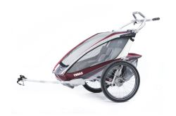 Thule CX Bike Trailer and Stroller - 2 Child - Red