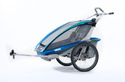 Thule CX Bike Trailer and Stroller - 2 Child - Blue
