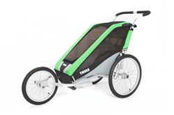 Thule Chariot Cheetah Jogging Stroller - Sport Series - 1 Child - 6 Months and Older - Green