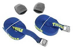 Thule Load Strap Cinch Straps w/ Padded Cam Buckles - 15' - 750 lbs - Qty 2
