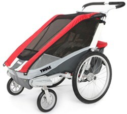 Thule Cougar Jogger and Stroller - 1 Child - Red