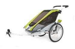 Thule Cougar Bike Trailer and Stroller - 1 Child - Green