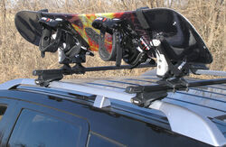 Thule Snowboard Rack with Locks - Space Saving Design - 2 Boards