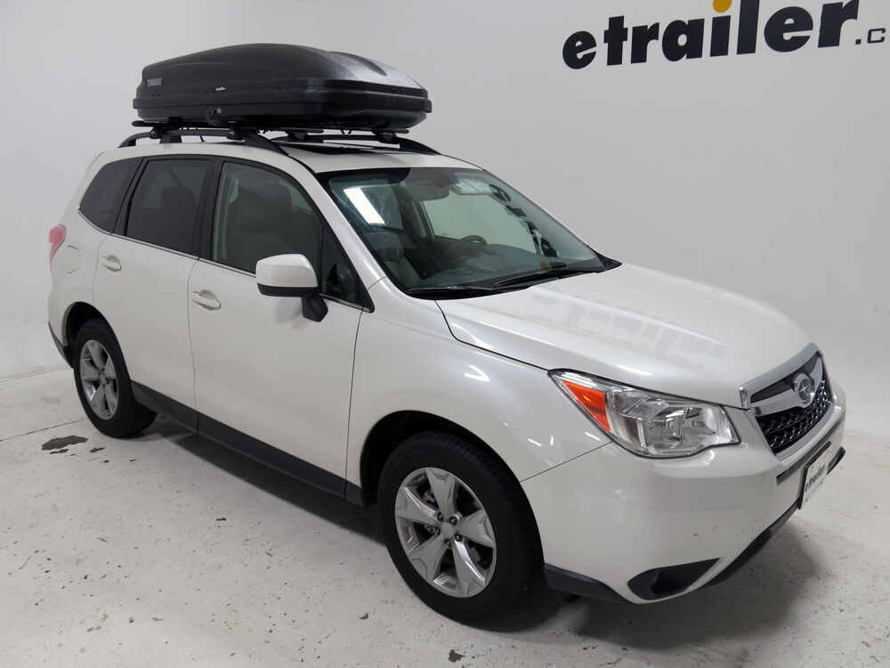 Subaru Forester Thule Pulse Large Rooftop Cargo Box 16