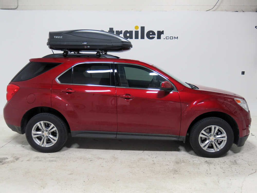 2015 chevrolet equinox thule force medium rooftop cargo box 13 cu ft aeroskin black. Black Bedroom Furniture Sets. Home Design Ideas