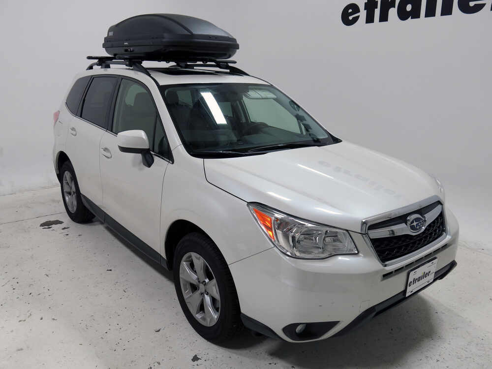 2015 Subaru Forester Thule Force Medium Rooftop Cargo Box
