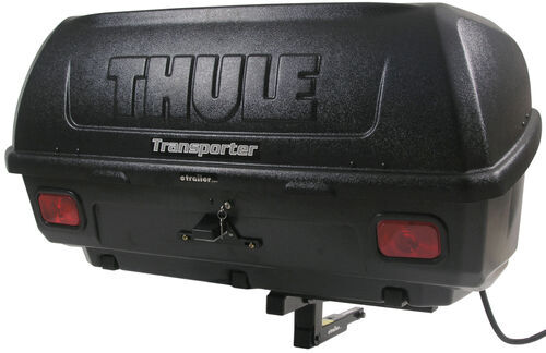 Thule Transporter Combi Hitch Mounted Enclosed Cargo Carrier Tilting
