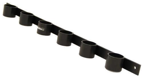 6 Slot Tool Rack Black Powder Coated Steel 33 1 2 Long