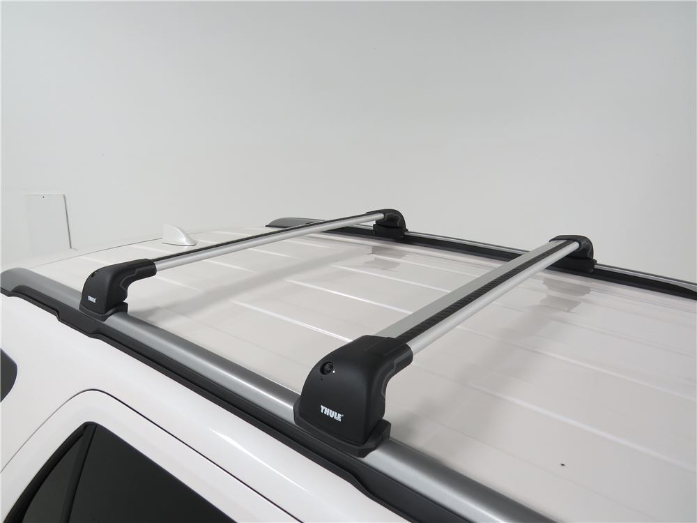 thule aeroblade edge roof rack fixed mounting points flush factory side rails aluminum. Black Bedroom Furniture Sets. Home Design Ideas