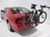 trunk bike racks thule frame mount - anti-sway 2 bikes in use