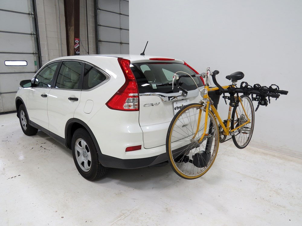 honda cr  thule vertex  bike rack     hitches tilting