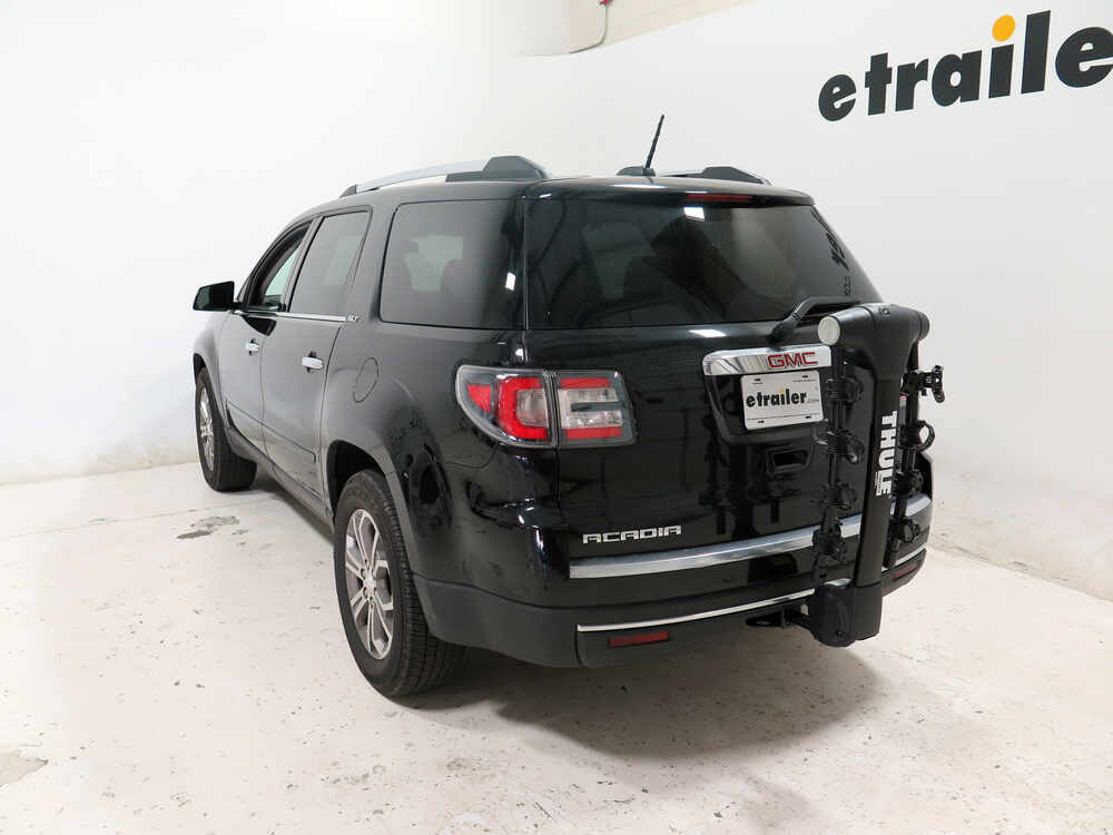 2016 gmc acadia thule vertex 4 bike rack 1 1 4 and 2 hitches tilting. Black Bedroom Furniture Sets. Home Design Ideas