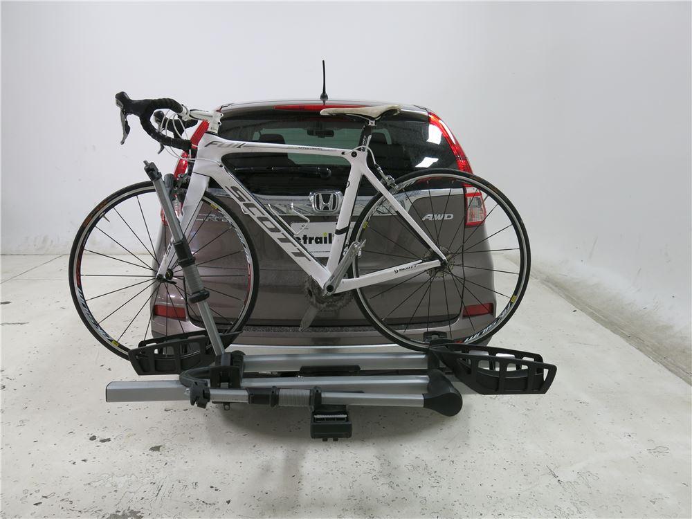 honda cr  thule  pro  bike platform rack  hitches tilting