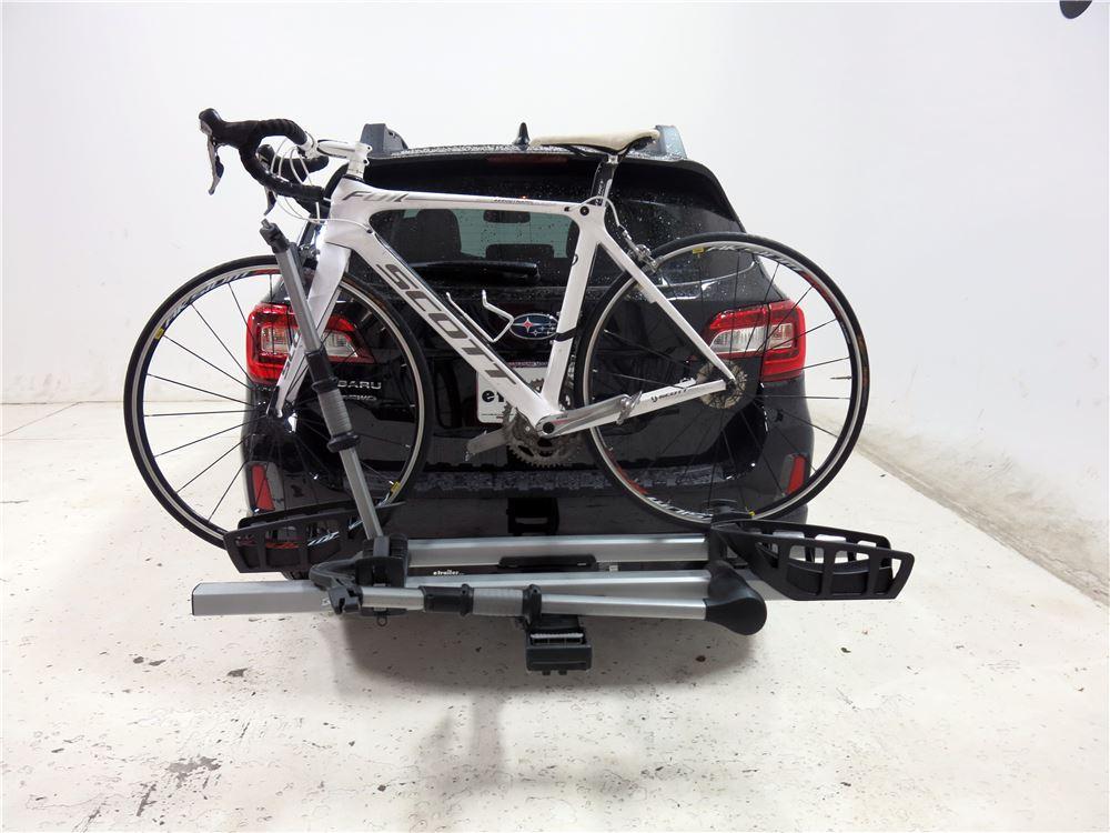 subaru outback wagon thule  pro  bike platform rack  hitches tilting
