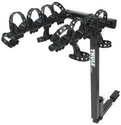"Thule Hitching Post Pro - Folding Tilting 4 Bike Rack w Anti-Sway - 1-1/4"" and 2"" Hitches"