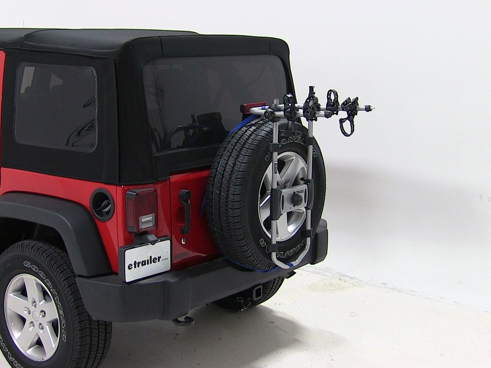 2014 Jeep Wrangler Unlimited Spare Tire Bike Racks - Thule