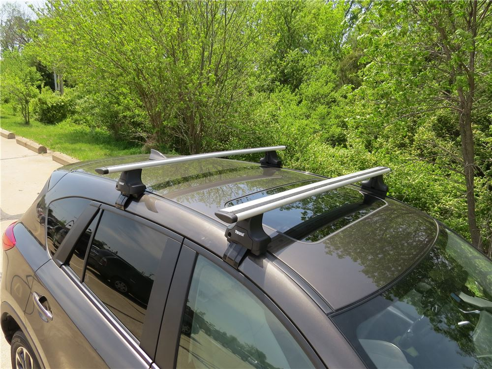 Installation Of A Thule Aeroblade Traverse Roof Rack On A  Thule Roof Rack Fit Kit for Traverse Foot Packs - 1721 ...