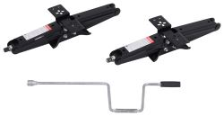 "Scissor Stabilizer Jacks w/ Handle - 18-3/4"" Lift - 5,000 lbs - Qty 2"