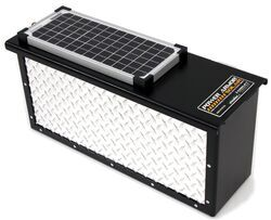 TorkLift PowerArmor Solar Locking Battery Box - 6V and 12V Batteries - Diamond Plate Aluminum