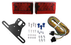 "Waterproof, Under 80"" LED Trailer Light Kit with 25' Wiring Harness"