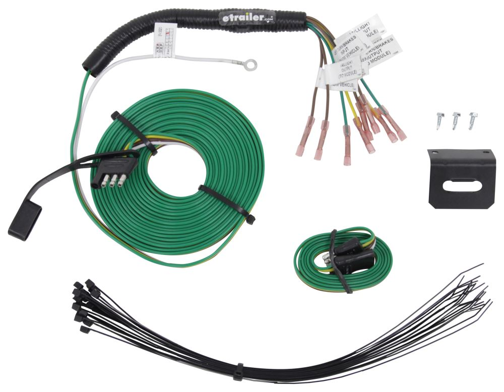 trailermate custom tail light wiring kit for towed