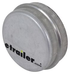 "Zinc Plated Grease Cap - 2.333"" Outer Diameter - 1.00"" Tall - Drive In"