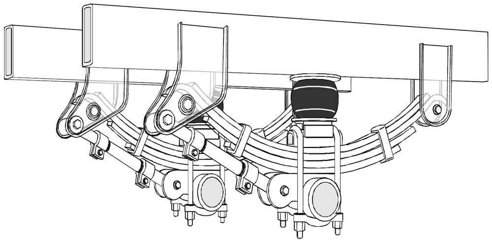 Timbren Trailer Suspension Enhancement System Medium Duty
