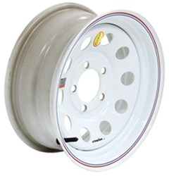 "Taskmaster Steel Modular Trailer Wheel - 14"" x 6"" Rim - 5 on 4-1/2 - White"