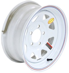 "Taskmaster Steel 8-Spoke Trailer Wheel - 14"" x 6"" Rim - 5 on 4-1/2 - White"