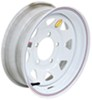 "Taskmaster Steel 8-Spoke Trailer Wheel w/ Offset - 15"" x 5"" Rim - 5 on 5-1/2 - White"