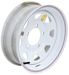 "Taskmaster Steel 8-Spoke Trailer Wheel - 15"" x 5"" Rim - 5 on 5-1/2 - White"