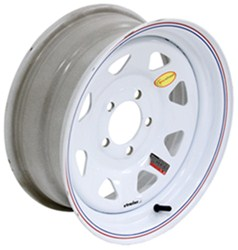 "Taskmaster Steel 8-Spoke Trailer Wheel - 15"" x 6"" Rim - 5 on 4-1/2 - White"