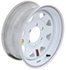 "Taskmaster Steel 8-Spoke Trailer Wheel - 15"" x 6"" Rim - 6 on 5-1/2 - White"