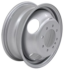 "Taskmaster Steel Dual Trailer Wheel - 16"" x 6"" - 8 on 6-1/2 - 4.77"" Pilot - Silver"