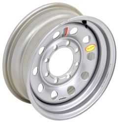 "Taskmaster Steel Modular Trailer Wheel - 16"" x 6"" Rim - 8 on 6-1/2 - Silver"