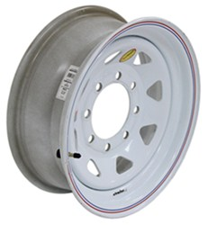 "Taskmaster Steel 8-Spoke Trailer Wheel - 16"" x 6"" Rim - 8 on 6-1/2 - White"