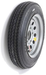 "Taskmaster 4.80-12 Bias Trailer Tire with 12"" Silver Mod Wheel - 5 on 4-1/2 - Load Range C"
