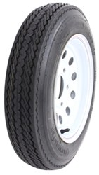 "Taskmaster 4.80-12 Bias Trailer Tire with 12"" White Mod Wheel - 5 on 4-1/2 - Load Range C"