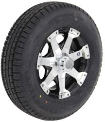 "Provider ST175/80R13 Radial Tire w/ 13"" Series 06 Aluminum Wheel - 5 on 4-1/2 - LR C - Black"