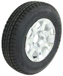 "Provider ST175/80R13 Radial Tire w/ 13"" Series 06 Aluminum Wheel - 5 on 4-1/2 - LR C - Silver"
