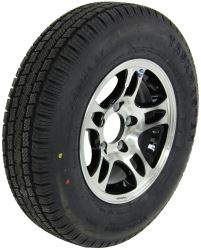 "Provider ST175/80R13 Radial Tire w/ 13"" Series S5 Aluminum Wheel - 5 on 4-1/2 - LR C - Black"