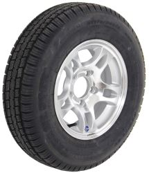 "Provider ST175/80R13 Radial Tire w/ 13"" Series S5 Aluminum Wheel - 5 on 4-1/2 - LR C - Silver"