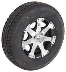 "Taskmaster ST175/80R13 Radial Tire w/ 13"" Series 06 Aluminum Wheel - 4 on 4 - LR C - Black"