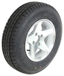 "Provider ST175/80R13 Radial Tire w/ 13"" Series 04 Star Mag Aluminum Wheel - 4 on 4 - LR C"