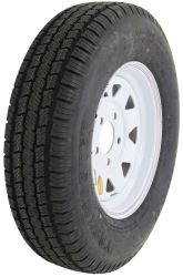 "Taskmaster ST175/80R13 Radial Trailer Tire with 13"" White Spoke Wheel - 5 on 4-1/2 - LR C"