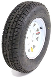 "Provider ST175/80R13 Radial Trailer Tire w/ 13"" White Spoke Wheel - 5 on 4-1/2 - LR C"