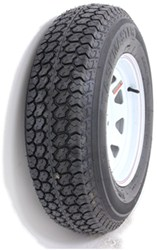 "Taskmaster ST205/75D14 Bias Trailer Tire with 14"" White Spoke Wheel - 5 on 4-1/2 - Load Range C"